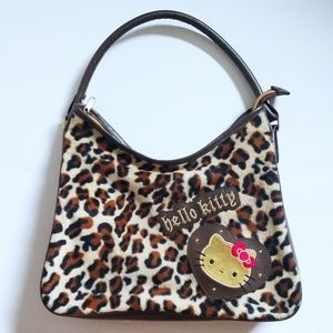 Hello Kitty leopard print purse